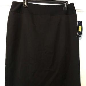 AK ANNE KLEIN NWT Black Pencil Skirt 10